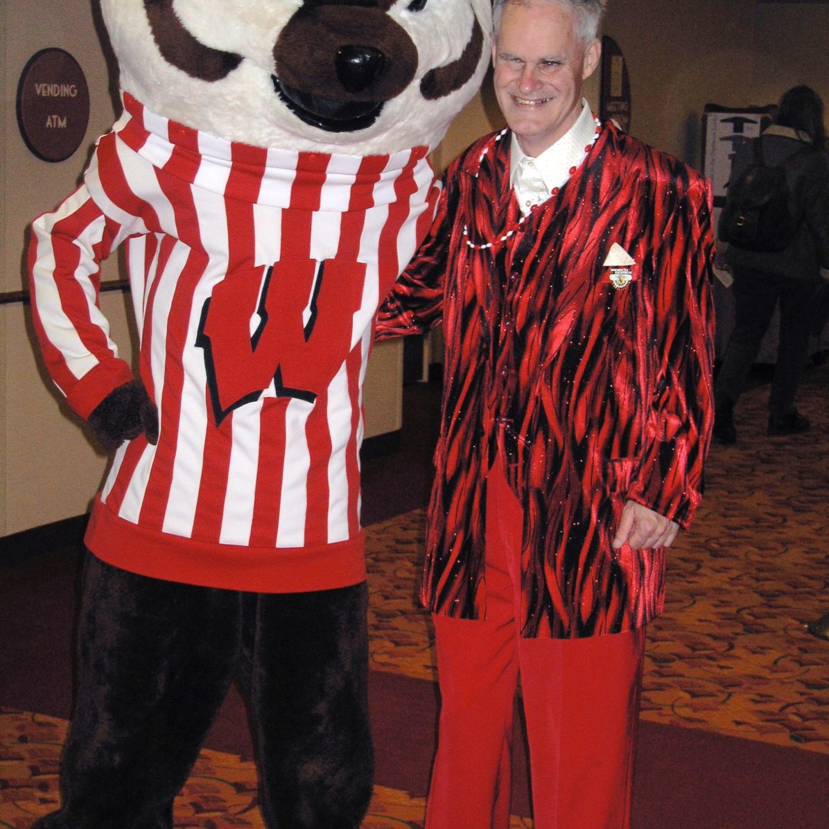 Vince the Illini meets Bucky Badger.
