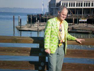 Vincent on the pier.
