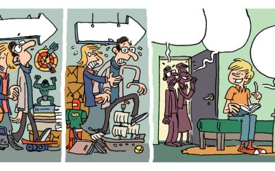 Strip humoristique Le désordre