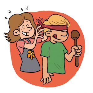 Série de dessin pour illustrer le jeu de la casserole. Pour la revue Dauphin des Editions Averbode. ©Vincent Rif