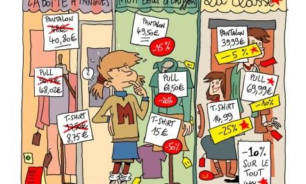 Mathilde fait du shopping