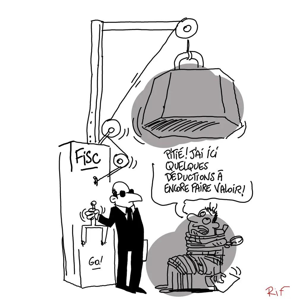 Cartoon sur les déductions fiscales