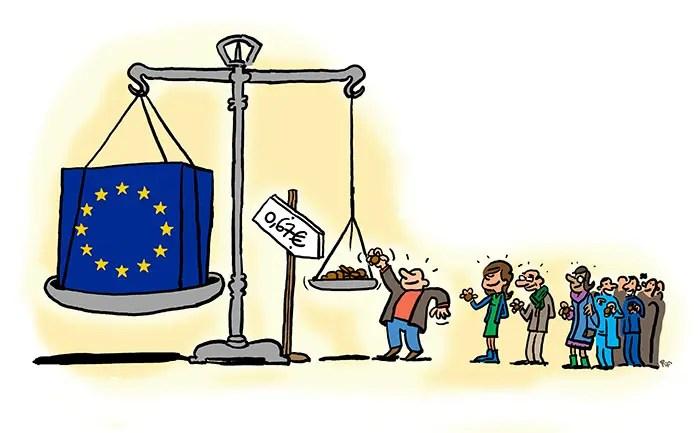 0,67 € par habitant européen