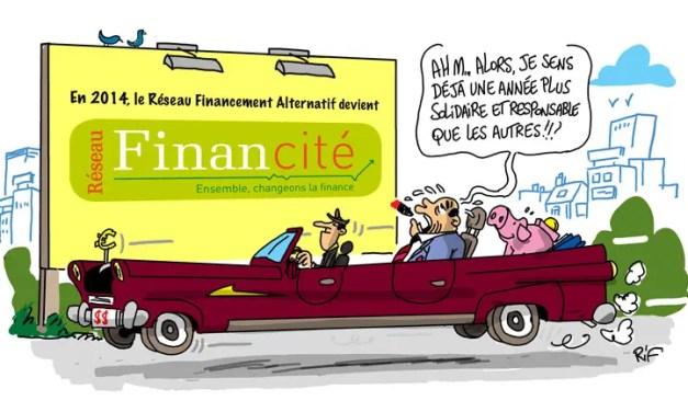 Carte de vœux du Réseau Financité 2014