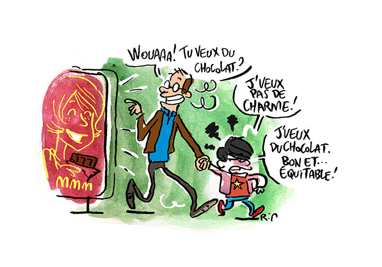 Illustration pour Déclic- Oxfam