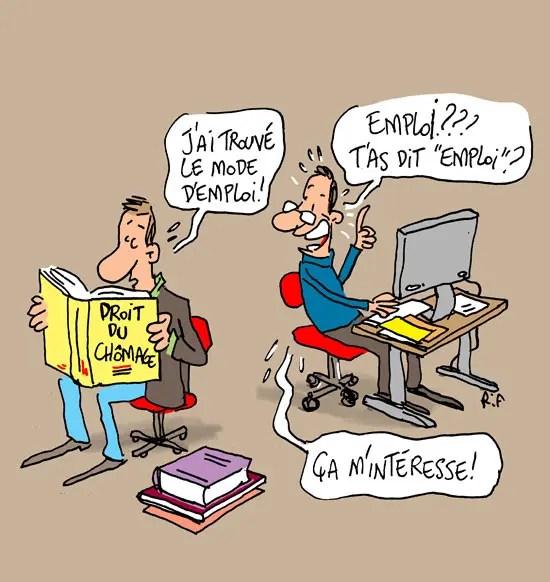 Droit du chômage - dessin de presse