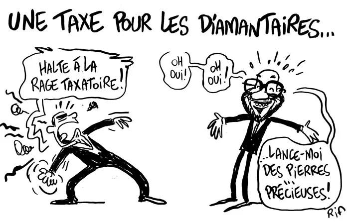 Dans le cadre du plan d'économies budgétaires, le gouvernement Charles Michel imposera une contribution au secteur diamantaire belge de l'ordre de 50 millions d'euros par un prélèvement sur son chiffre d'affaires.