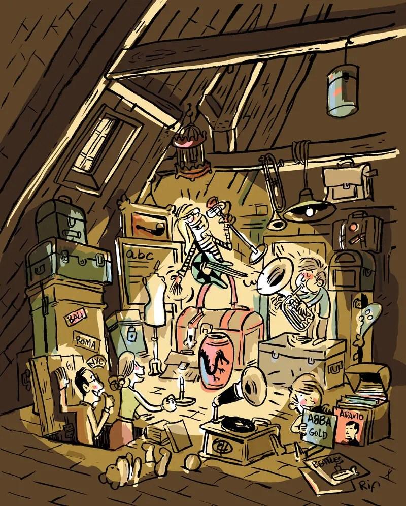 Le grenier musical - illustration