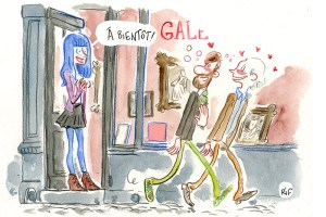La galeriste des Vernis du mercredi