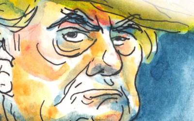 Caricature de Donald Trump