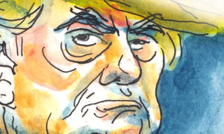 Caricature de Donald Trump