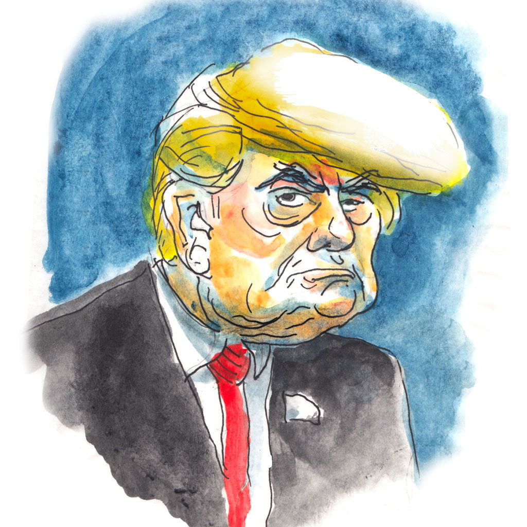 Caricature de Donald Trump par Vincent Rif
