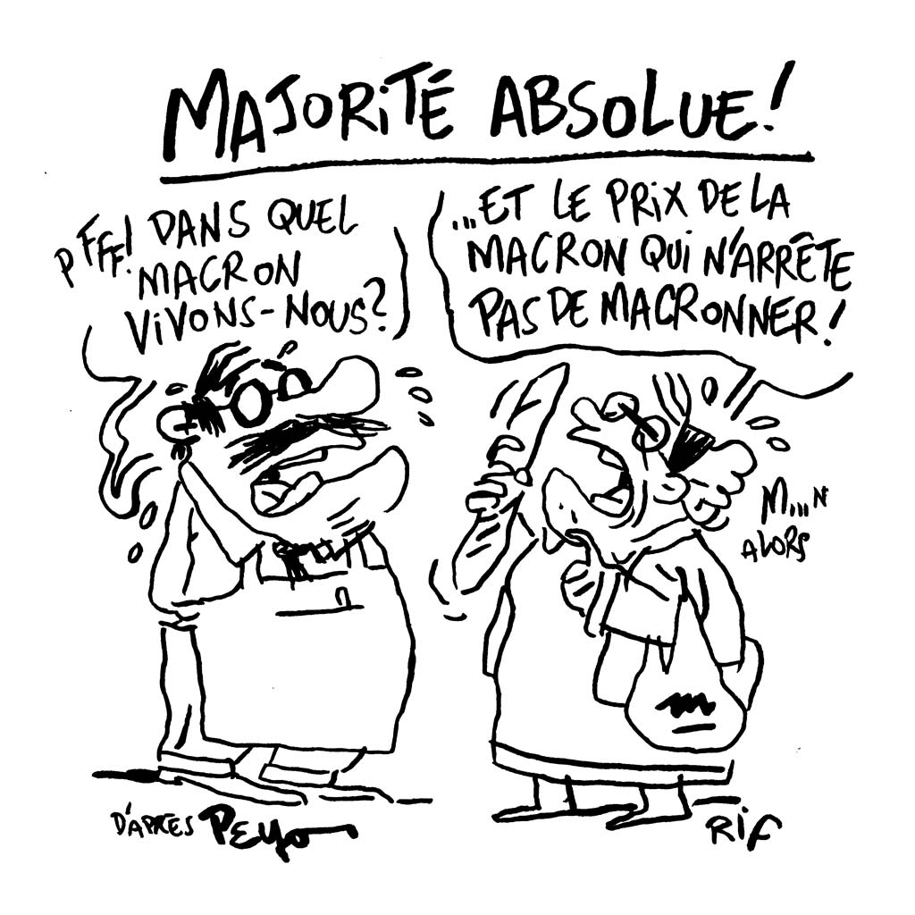 Dessin d'humeur : Macron obtient la majorité absolue à l'Assemblée