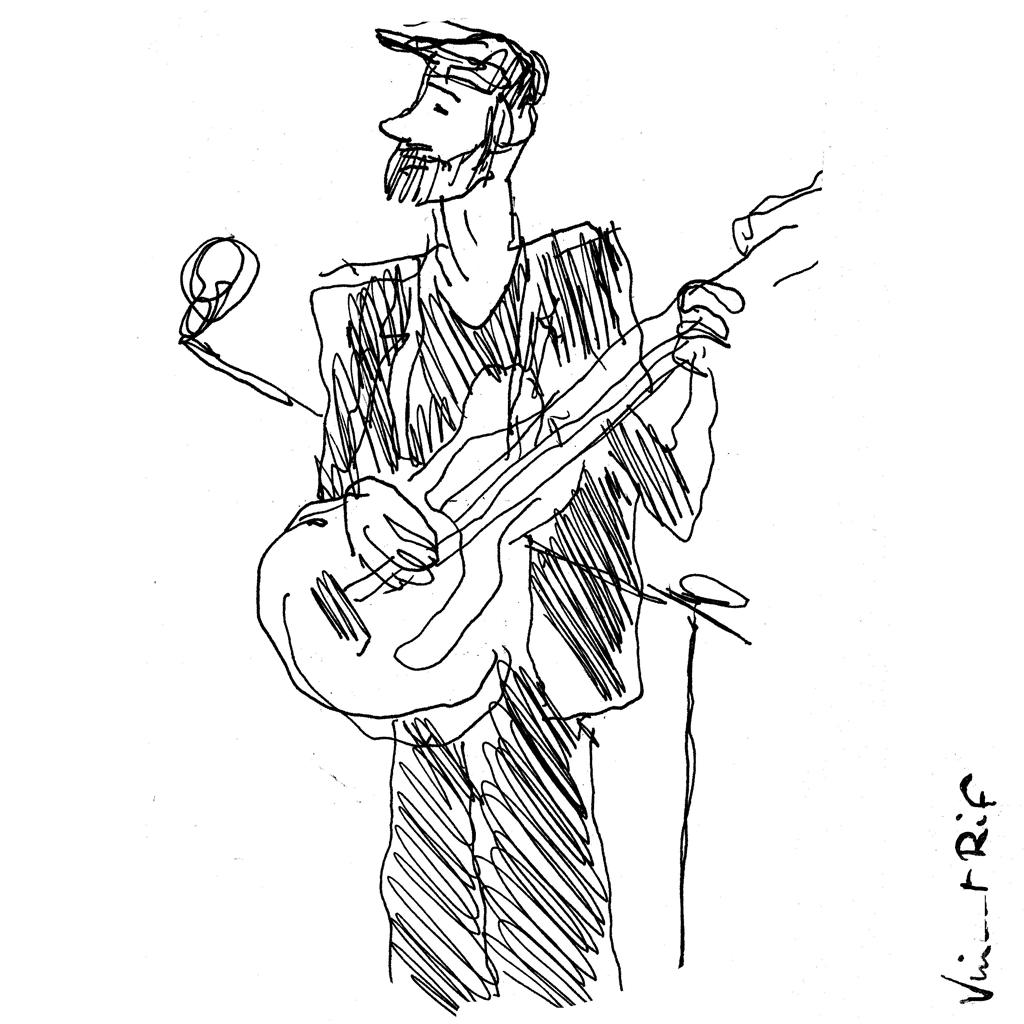 Guitariste de Clare Louise- croquis