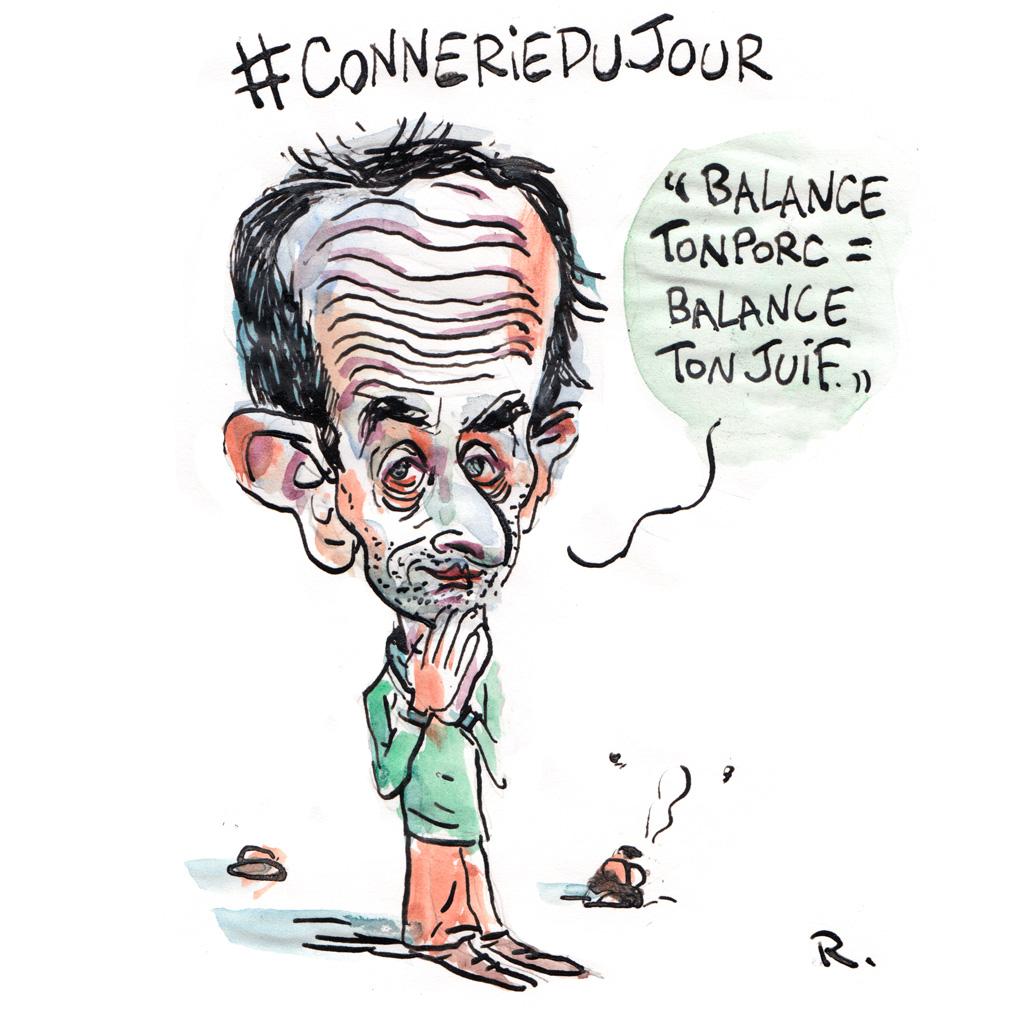 Caricature de Eric Zemmour
