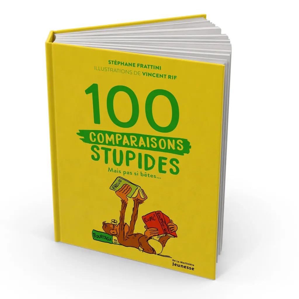 Livre des 100 comparaisons stupides mais pas si bêtes - essai de couverture