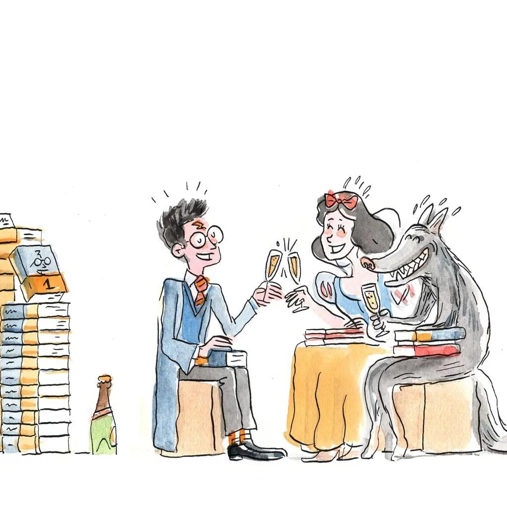 Illustration sur le marché de la littérature jeunesse