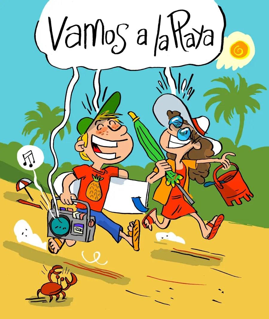 Illustration vamos a la playa