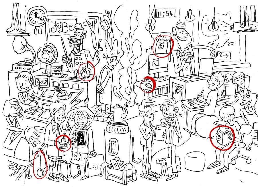 Illustration double page pour le magazine Bonjour des Editions Averbode