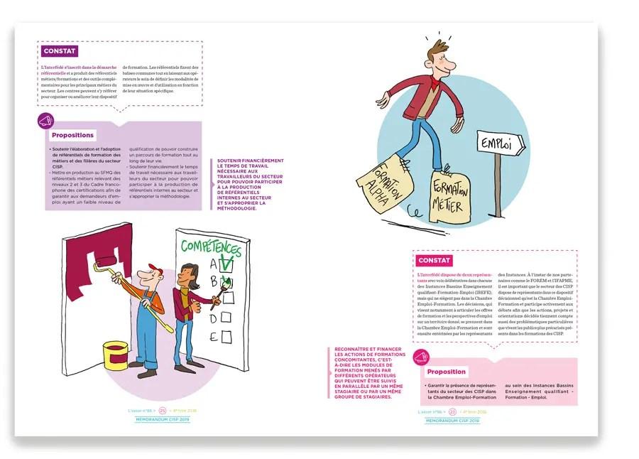 Deux pages intérieures illustrées [la maquette et la mise en page a été réalisée par le Studio Olagil]