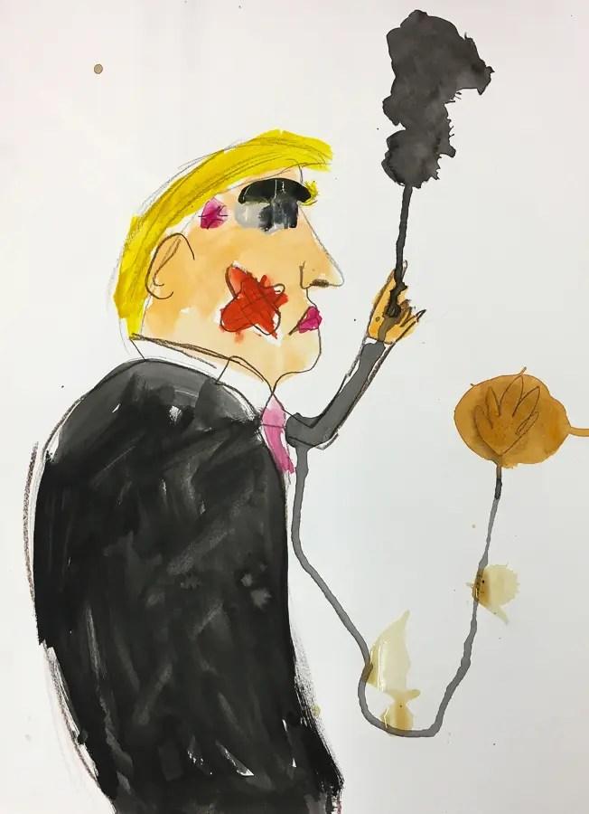 Caricature de Trump par un enfant