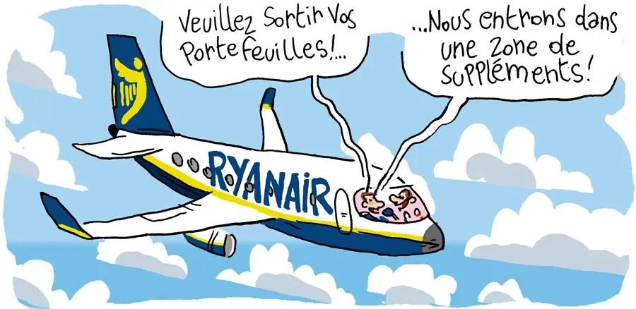 Ryanair et les zones troubles de suppléments