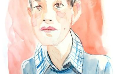 Portraits en live à l'aquarelle