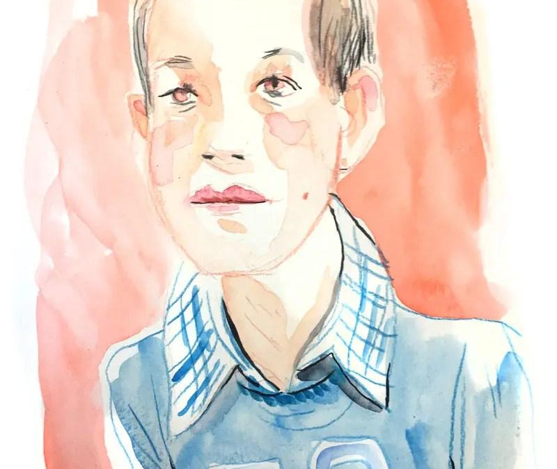 Portraits à l'aquarelle par Vincent Rif