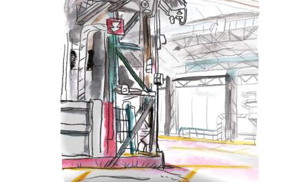 Urban sketching au Kanal Pompidou