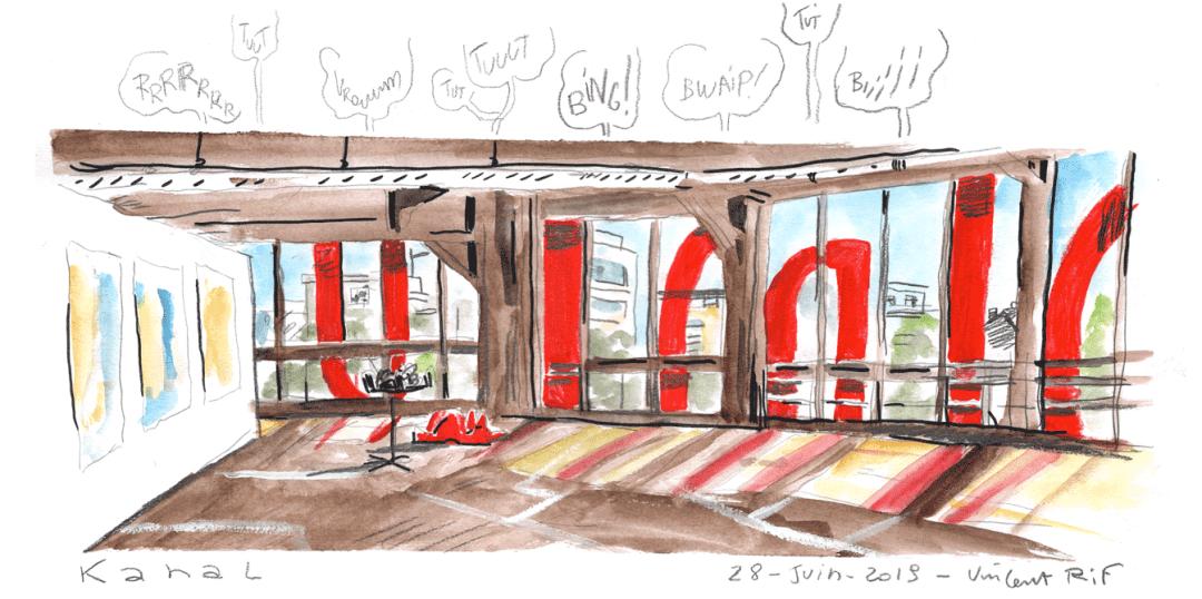 Urban sketching au Canal Pompidou dans le cadre de la fermeture pour travaux