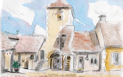 Sketchbooking à Asquins, Bourgogne