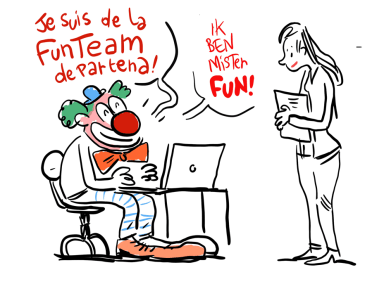 Fun Team -dessin de réunion