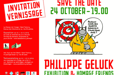 Invitation au vernissage de l'exposition Geluck&friends