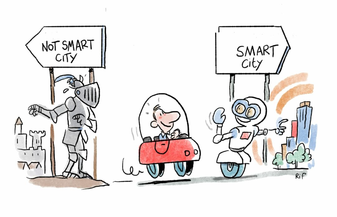drawing Smart city