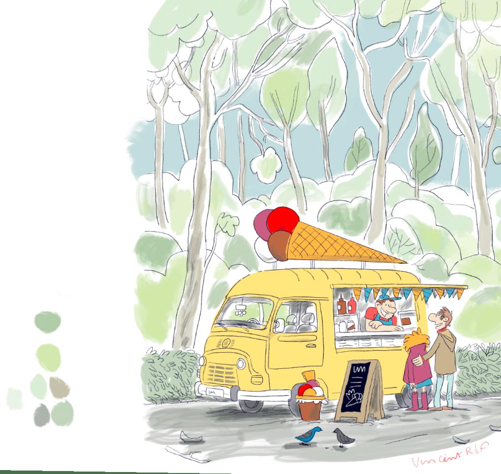 Papa coiffeur, une histoire écrite et dessinée pour enfants de deuxième primaire par Vincent Rif pour le Conseil de l'Enseignement des Communes et des Provinces