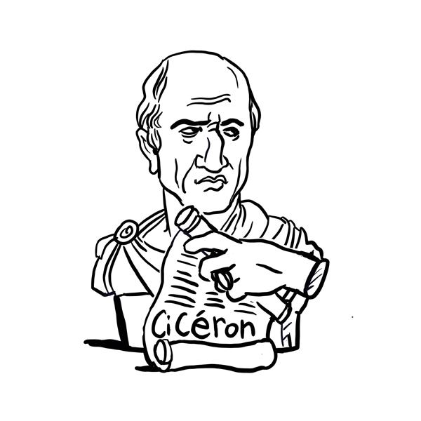 Portrait du philosophe Cicéron
