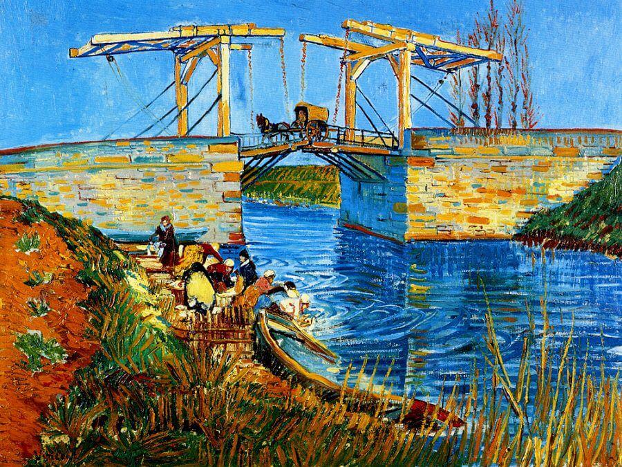 The Langlois Bridge at Arles, 1888 by Vincent van Gogh