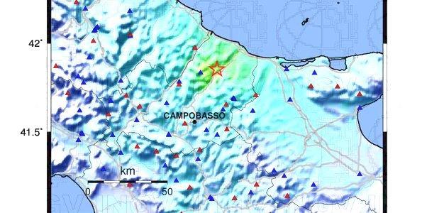 Terremoto: magnitudo 4.7 in provincia di Campobasso