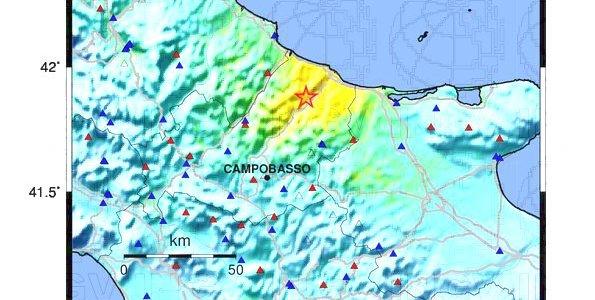 Terremoto: magnitudo 5.2 in provincia di Campobasso