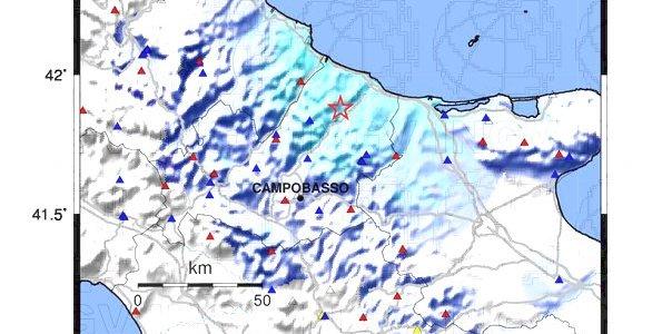 Terremoto: magnitudo 4.2 in provincia di Campobasso
