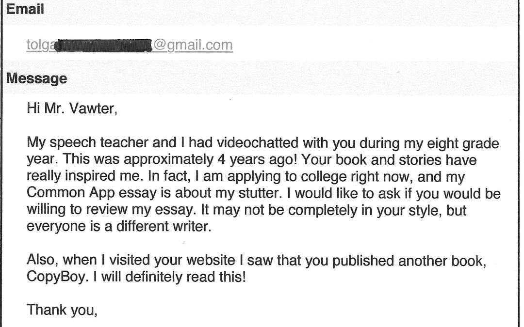 An author's compensation can come in unusual ways