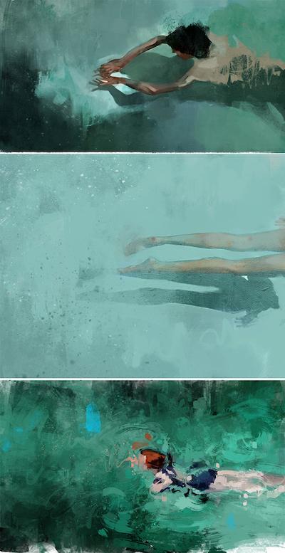 Les nageurs de Pedro Covo