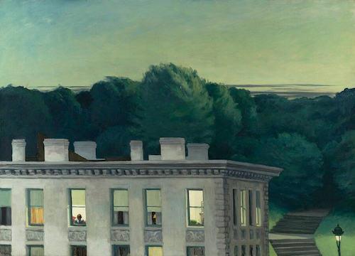 """Edward Hopper, """"La maison au crépuscule"""" (1935)"""