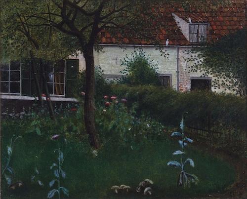 """William Degouve de Nuncques, """"Le jardin mystérieux"""" (1891)"""