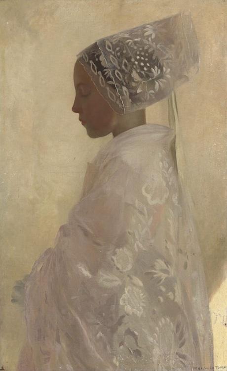 """Gaston Latouche, """"Une servante en contemplation"""" (vers 1900)"""