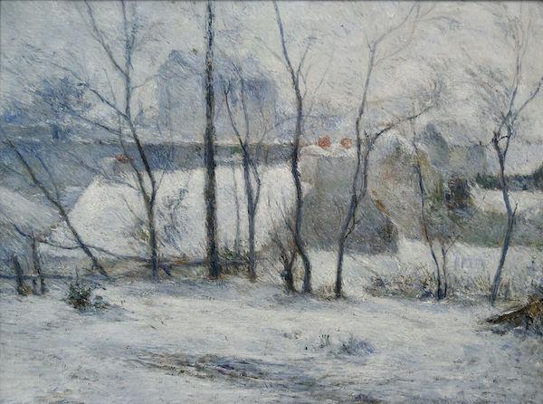 "Paul Gauguin, ""Jardin sous la neige"" (1879)"