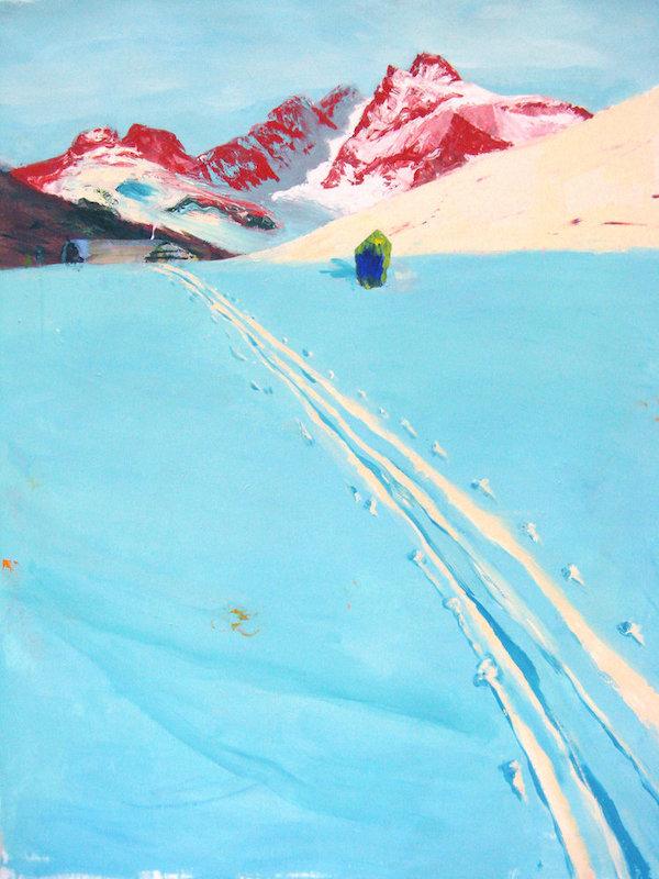 """©Judith Simonian """"La piste bleu glacé"""" (2009)"""