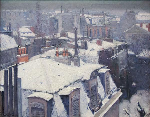 """Gustave Caillebotte, """"Vues de toits (effet de neige)"""" (1878)"""