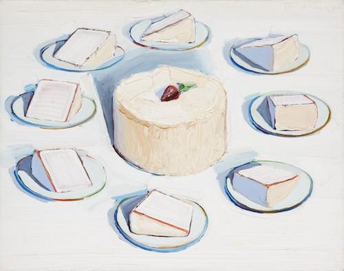 """Wayne Thiebaud """"Autour des gâteaux"""" 1962"""
