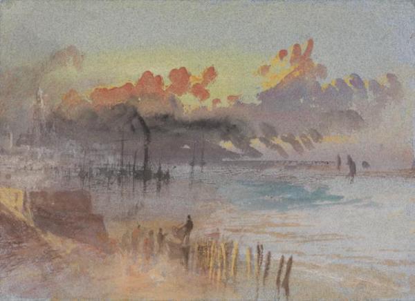 William Turner, aquarelle, Angleterre. sans doute Margate.